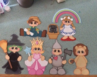 Wizard of Oz inspired paper piecing scrapbook embellishment set * Free shipping*