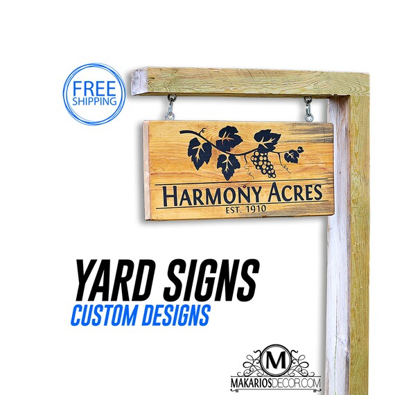 House number sign address sign address by makariosdecor on - House number signs for yard ...