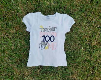 100 Days of School, My Teacher Survived 100 days of School with Me Shirt