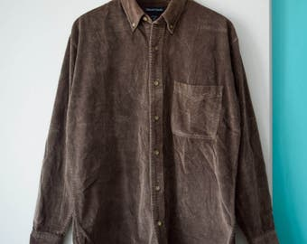 Vintage corduroy button down   Fits many