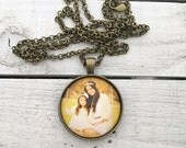 Photo gift for moms, Picture Jewelry, Picture Necklace, Picture Pendant, Photo Jewelry