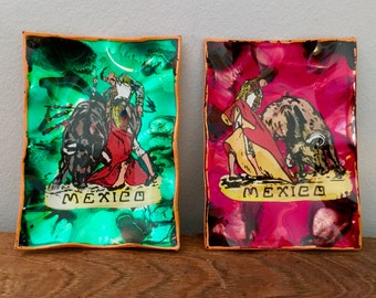 Matador Painting Bullfighting Folk Art Mexico