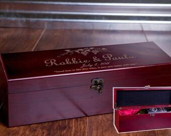 Wine Box, Wine Ceremony, Wedding Wine Box, Personalized Box, Wedding Gift, Wooden Wine Box, Custom Wine Box, Wine Display, Anniversary W02