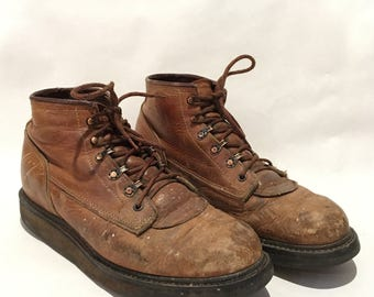Rare 1970's Red Wing Work Boots Size 10 B