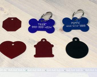 Custom Engraved Dog ID Tags - Free Name Personalization / Customization