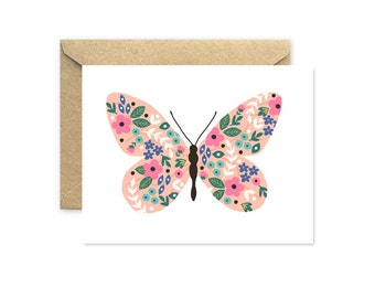 Folk Butterfly - Greeting Card