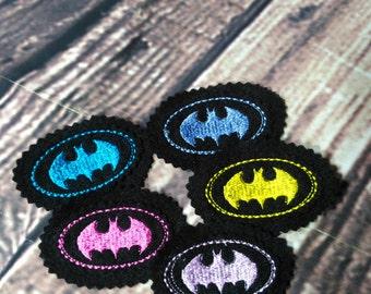 Batman Felties, Craft Felt Batman Machine Embroidered Logo, Hairclip Embellishments, Embellishments, Batman Logo, Felt Craft Items