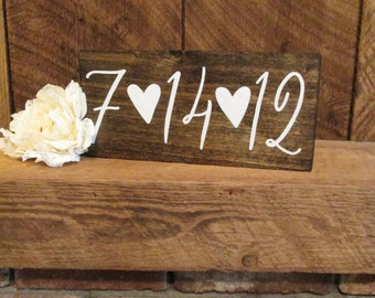 Save the date sign, rustic wedding sign, date sign, anniversary sign, wood wedding sign, custom date sign, wood anniversary, 7th anniversary
