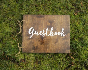 Guestbook, guest book, wood guest book, alternative guest book, wedding guest book, signature book, custom guest book, personalized book