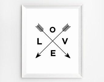 Wall Art Print, Love Print, Black and white Wall Art, Love Art Print, Love Art, Printable Art, Quote Print, Love Poster, Wall Decor
