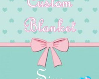 Custom Sized Miscarriage Blanket
