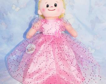 Princess dress for rag doll dress 30 cm