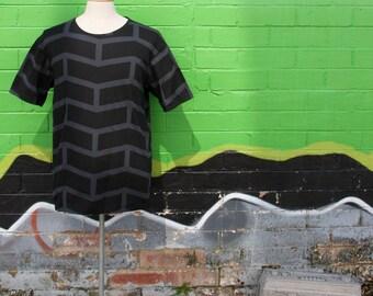 All over hand printed Men's T-shirt - Bricka