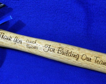 Gift For A Coach ~ Coach Gift ~ Engraved Coach Gift ~ Hammer Gift ~ Gift For Track Coach ~ From Team To Coach ~ Great Gifts For Coach ~ Gift