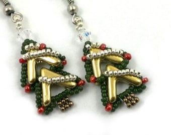 Beading4perfectionists: AVA goes..., 'Noël'. AVA beads beading pattern tutorial PDF file