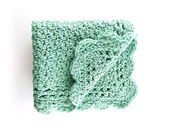 Baby Blanket Crochet - Throw Blanket - Baby Afghan - Baby Shower - New Born Gift - Crochet Blanket - Couverture - Uncinetto - Wool Blanket