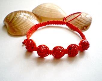 Red bracelet Shamballa Red thread Red Macrame Bracelet Friendship Bracelet Braided Bracelet Red String Kabbalah Bracelet buddhist bracelet