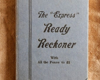 """Vintage 1960's Hardcover Book: The """"Express"""" Ready Reckoner by J Gall Inglis Published by Gall & Inglis"""