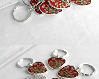 Love gift for her Red heart gift for women Charm keychain for men Gift keychain for sister Friendship gift for friend Key ring Romantic gift