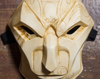 inspired of Jhin the Virtuso League of Legends Mask Lol cosplay