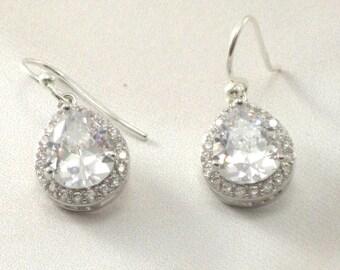 Rhinestone Earrings Teardrop Earrings Wedding Earrings Bridal Earrings Crystal Earrings Bridal Jewelry Evening Jewelry drop earrings