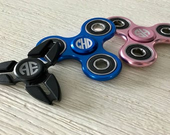 Monogrammed Fidget Spinner - FREE Engraving - Perfect For Dad