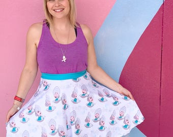 Alice and Wonderland skirt inspired by baby oysters, the sea and a walrus