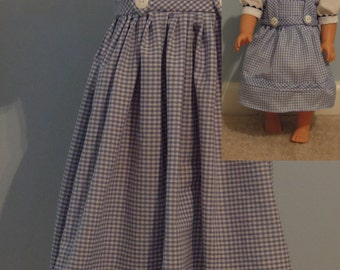 "Dorothy Dress from Wizard of Oz with matching 18"" doll dress. Available in sizes 1/2T to child 8."