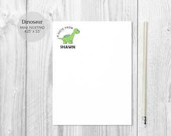 Dinosaur Party Gift | Dinosaur Stationery | Personalized Notepad Gift for Kids | Custom Note Pad | Dinosaur Notepads – MP-015