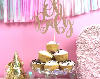 Baby Shower Cake Topper   Oh Baby   Personalised Cake Topper   Cake Topper  For Baby