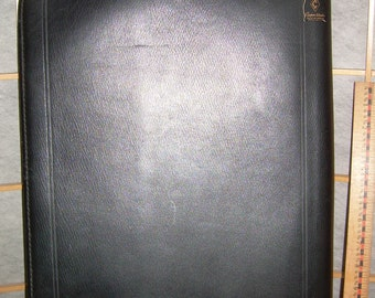 Top grain COWHIDE LEATHER BINDER/Case was made by Cooper Weeks Ltd., Canada. Very sturdy, 17 x 13 x 1 inch. Gently pre-used.  Pre-1970's
