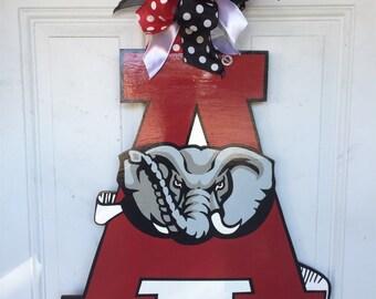 Alabama Door Hanger, Alabama Crimson Tide Door Hanger, Alabama Roll Tide Door Hanger, Alabama Wreath, Alabama Crimson Tide Wreath, Roll Tide