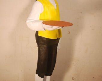 """Butler sculpture 140 cm (55.11"""") , Handmade Paper Mache figure"""