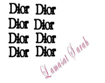Logo vinyl stickers or decals( 24 pieces)