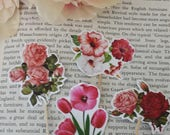 24 Pieces  Flowers  Cupcake Toppers Picks for Birthday Decorations DIY Party Supplies