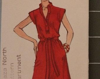 Vintage Vogue 1578 Couturier Design Leo Narducci Sewing Pattern  Complete - Mod Dress Size 14 Bust 36