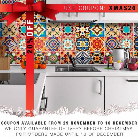 Vinilo azulejos talavera estilo cl sico por homeartstickers for Pegatinas azulejos cocina