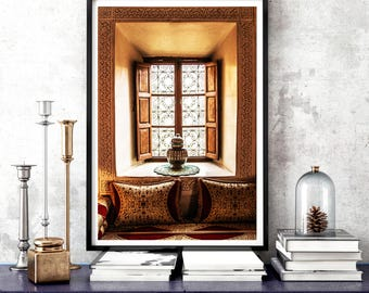 Photography + Black Frame - Moroccan living room window - Marrakech - Morocco