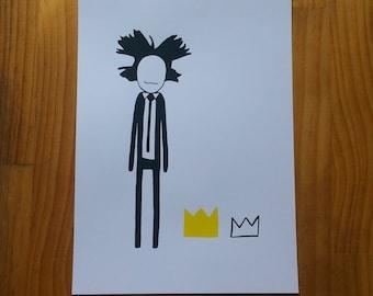 Jean Michel Basquiat  A4 Screenprint