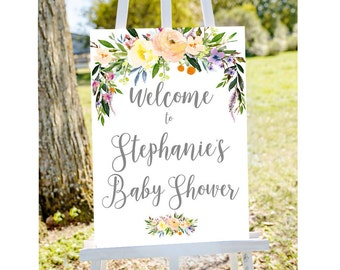 Personalized baby shower sign, Welcome to baby shower sign, Baby shower welcome sign, baby shower sign, custom baby shower sign, baby shower