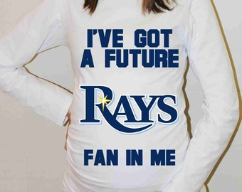 Tampa Bay Rays Shirt Tampa Bay Rays Baseball Long Sleeve Maternity Shirt Pregnancy Baby Shower