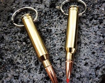 7mm Bullet Keychain - Brass - Once Fired