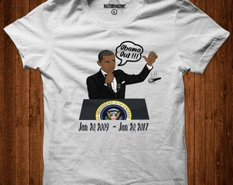 Obama Tribute Tshirt, Obama Out, Presidential Address, Farewell Speech