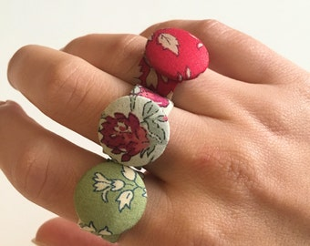 Couture Liberty Fabric Ring