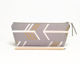 Bolsa de lápiz lápiz caso, flechas, oro, organización del escritorio, a accesorios de escritorio, caja de lápiz de alumno, escuela, útiles escolares