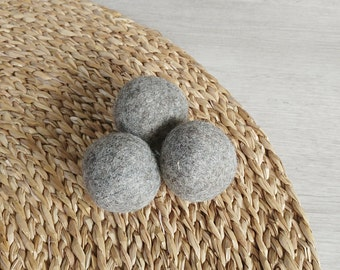 Cat Toy Felt balls a set of 3 in gray - catnip infused cat toys - Felted Cat Balls Kitten Toys - dog ball - dog toys