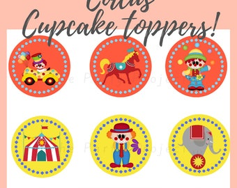 """DIY PRINTABLE Circus Toppers 
