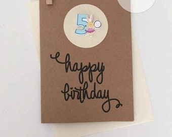 5th Birthday Card – 5th Happy Birthday Card – Age 5 Happy Birthday Card – Fifth Happy Birthday Card – Happy 5th Birthday Card