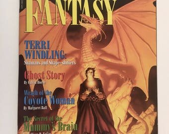 Realms of Fantasy Vintage Magazine, Ghost Story, Secret of Mummy's Brain, Shamans and Shape Shifters, Role Playing Games
