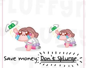 Dont Spend Money Sammie || Planner Stickers, Cute Stickers for Erin Condren (ECLP), Filofax, Kikki K, Etc. || SFS64